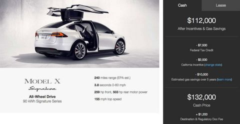 The Tesla Model X Signature Will Cost $132,000, Get to 60 in 3.8 Seconds