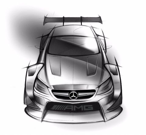 First Sketches of the 2016 Mercedes-AMG DTM Race Car Revealed
