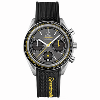 """<p>From the brand that went to the moon, the <a href=""""http://www.omegawatches.com/collection/speedmaster/racing/co-axial-chronograph/32632405006001"""" target=""""_blank"""">Speedmaster Racing Co-Axial</a> features a classic design, offers a tire-tread band as an option, and sports one of the best in-house, truly unique movements available for less than the price of a McQueen relic. </p>"""