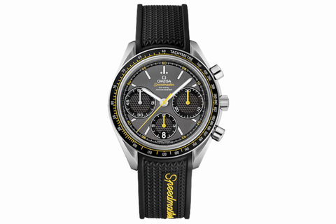 "<p>From the brand that went to the moon, the <a href=""http://www.omegawatches.com/collection/speedmaster/racing/co-axial-chronograph/32632405006001"" target=""_blank"">Speedmaster Racing Co-Axial</a> features a classic design, offers a tire-tread band as an option, and sports one of the best in-house, truly unique movements available for less than the price of a McQueen relic. </p>"