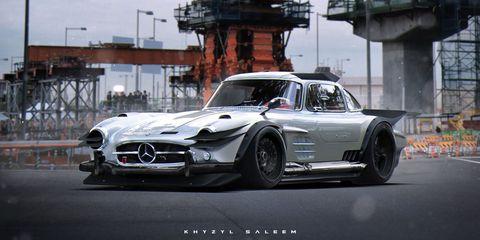Classic Cars Reimagined in a Bosozoku Future