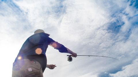 "<p>Fishing and camping go hand in hand. There's no doubt about it. While bait fishing may increase your luck of securing dinner, learning to properly cast a fly rod comes with bragging rights that extend far beyond mealtime. Pacific Northwest-based Redington has a range of portable setups that are perfect for camping. We tested both the <a href=""http://www.redington.com/fly-fishing-outfits/topo/"" target=""_blank"">Topo</a> starter kit and more performance-focused <a href=""http://www.redington.com/fly-fishing-outfits/voyant/"" target=""_blank"">Voyant</a> kit, and both passed with flying colors (we even <a href=""https://instagram.com/p/52nj9TlsN0/?taken-by=hollargram"" target=""_blank"">caught a nice rainbow</a>). And please remember, when referencing fly fishing, it's a rod, not a pole.</p><p>Between $220 and $300 from <a href=""http://www.redington.com/fly-fishing-outfits/"" target=""_blank"">Redington</a></p>"