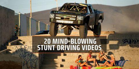 20 Mind-Blowing Stunt Driving Videos