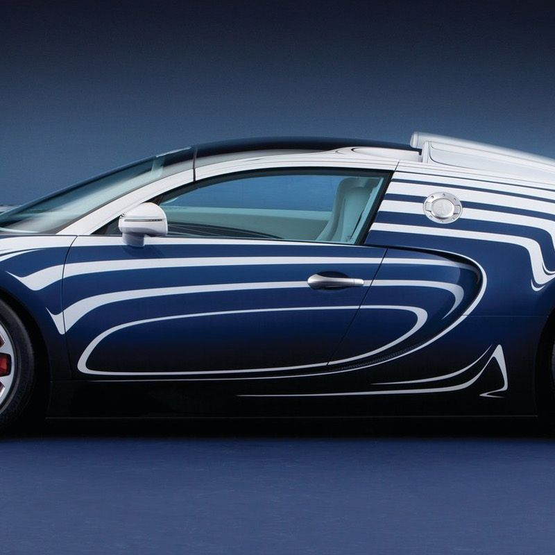 """<p>The French automaker teamed up with German porcelain maker Königliche Porzellan-Manufaktur Berlin to create this porcelain-accented special edition. It was one-of-a-kind and <a href=""""http://blog.caranddriver.com/bugatti-unveils-veyron-grand-sport-l%E2%80%99or-blanc-a-bug-in-a-porcelain-shop/"""">cost about $2.4 million</a>. """"L'or Blanc"""" translates to """"white gold.""""</p>"""