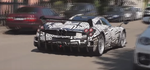 This Is the 'Hardcore' Pagani Huayra and Its Huge Wing