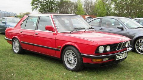 <p>The original BMW M5 (E28) was imported to the US for only one year, and came in only one color combination—black with a tan interior. Our first taste of BMW sport sedan goodness was tantalizing. The big 3.5-liter straight six, directly related to the engine in the M1 supercar, could hustle this sedan to 60 mph in 5.6 seconds. Back in the 1980s, nothing with four-doors could touch it.</p> <p>Despite its rarity, the black beauty stayed relatively cheap for a long time. It was possible to get a very nice low mileage M5 for less than $20,000. But in the past few years it has been rediscovered—and coveted. Today, it's the high mileage cars that go for that kind of money. The retro M5 is so hot we've heard reports of dealers asking close to $100,0000 for cars with less than 40,000 miles.</p>