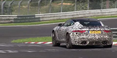 Listen to the Savagery of the Jaguar F-Type SVR Coupe at the Nürburgring