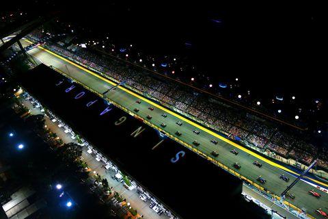 Night, Infrastructure, Atmosphere, Sport venue, Urban area, Metropolitan area, Midnight, Highway, Freeway, Stadium,
