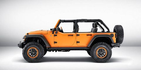 The New Jeep Wrangler Sunriser Concept is Diesel-Powered and Very Orange