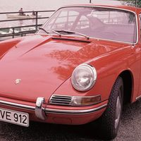 """<p>Once production of the 356 finally ceased in 1965, Porsche used the <a href=""""http://911evolution.com/911_20/911_20.htm"""" target=""""_blank"""">356's four-cylinder engine in the 912</a>. The 912 was meant to be a cheaper version of the 911 and was only produced between 1965 and 1969.</p>"""