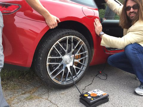 Tire, Wheel, Automotive tire, Automotive design, Alloy wheel, Automotive wheel system, Rim, Auto part, Jeans, Red,