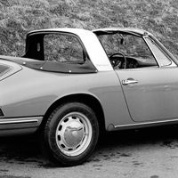 """<p>Porsche introduced the innovative <a href=""""http://911evolution.com/911_20/911_20.htm"""">Targa in 1965</a> as well. The prominent, protective rollbar defined this design, and the roof panel between it and the windshield could be removed, creating an open air experience for the driver.</p>"""