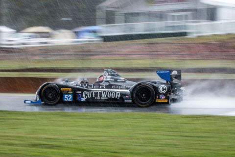 Halfway at Petit Le Mans: GT Cars Leading Overall As Rain Falls