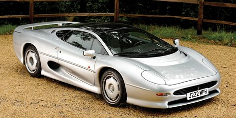 The XJ220 had elegant, swooping lines—and was a huge car. It was 197 inches from nose to tail and nearly 87 inches wide.