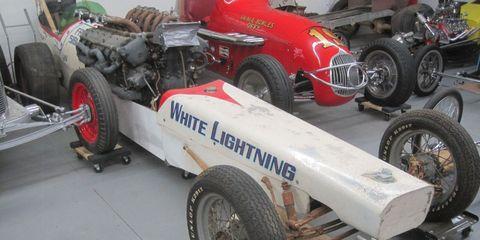 White Lightning Dragster