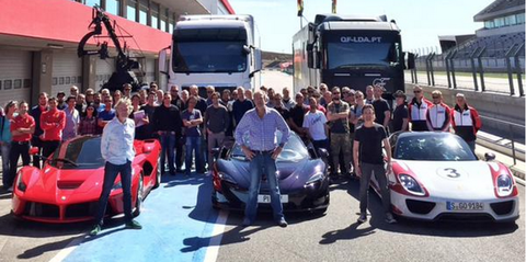 Clarkson, Hammond and May Are Doing the LaFerrari vs. 918 Spyder vs. P1 Hypercar Shootout (UPDATE: Chris Harris Too!)