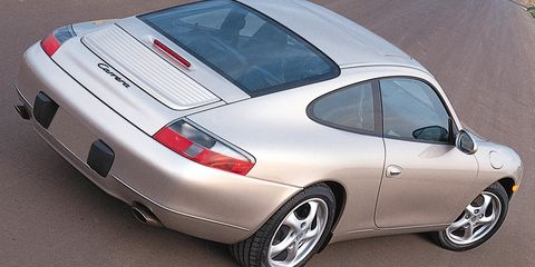 """<p>The base price of a new Porsche 911 is now scarily close to $100,000, and the cost of old air-cooled 911s has skyrocketed. Still, if you can get past the look of the 996's headlights, <a href=""""http://www.roadandtrack.com/car-culture/news/a27049/the-case-for-buying-a-porsche-996/"""" target=""""_blank"""">it's a sports car bargain</a>. Thanks to overblown fears of engine failure, prices have been driven down to <a href=""""http://www.ebay.com/sch/Cars-Trucks/6001/i.html?_sop=7&_mPrRngCbx=1&_from=R40&makeval=Porsche&modelval=911&Model%2520Year=1997%7C1998%7C1999%7C2000%7C2001%7C2002%7C2003%7C2004&_stpos=02121&_nkw=Porsche%20911&_dcat=10156&rt=nc&_udlo&_udhi=20000"""" target=""""_blank"""">surprisingly affordable levels</a>. </p>"""