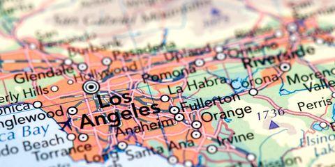 LA Map Closeup