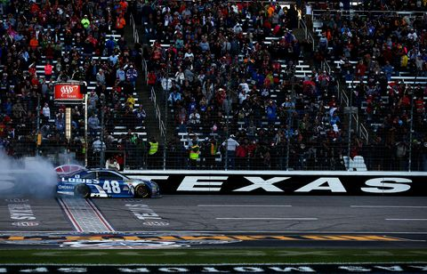 Jimmie Johnson Leads Just Six Laps En Route To Texas Win