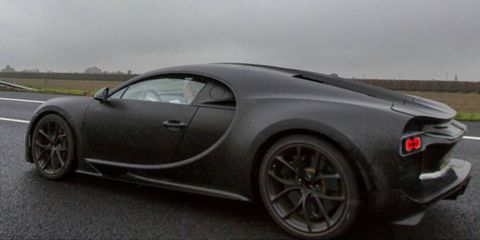 Bugatti Chiron Prototype Caught by Instagrammer on Italian Highway