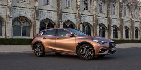 Portugal And More Than A Few Moradores Are Furrowing Their Brows At The Half Dozen Infiniti Q30 Hatchbacks Caravanning Toward Highway