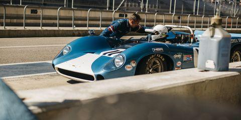 vintage racecar at cota