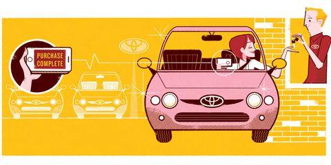 Motor vehicle, Mode of transport, Automotive design, Transport, Yellow, Automotive lighting, Red, Car, Automotive exterior, Hood,