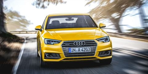 Automotive design, Vehicle, Yellow, Land vehicle, Grille, Car, Headlamp, Audi, Hood, Automotive lighting,