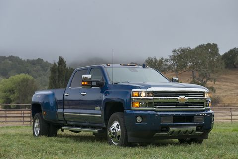 <p>The 3500HD's 6.6-liter Duramax turbodiesel engine churns out a mighty 765 lb-ft of torque. Have something heavy that needs towing? The Silverado is there for you.</p>