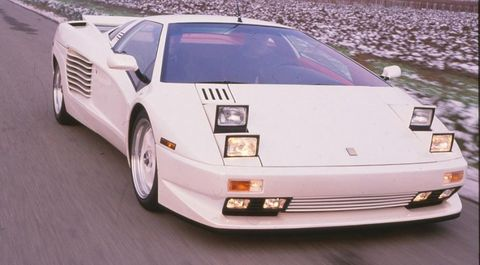 The Cizetas are rarer than honest politicians, with just a tiny number built. The true production number is a secret, of course, but one of them occasionally surfaced in L.A., where its owner revved it mercilessly prior to customs officials seizing it in 2009. (1991 Cizeta-Moroder 16T pictured.)