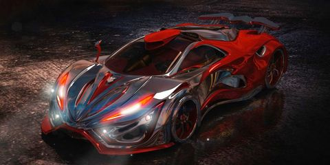 The Inferno Is a 1400 Horsepower Supercar Concept With a 'Metal Foam' Body