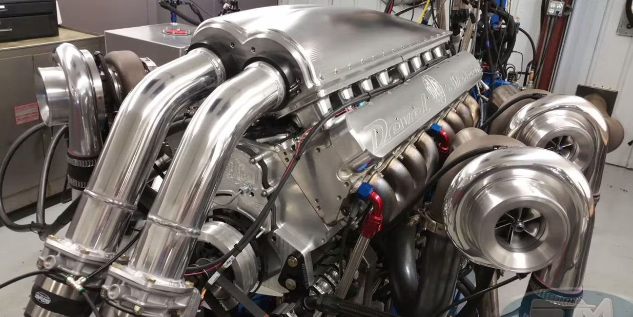 Watch a Ridiculous 12 3-liter Quad-Turbo V-16 Dyno at 5007