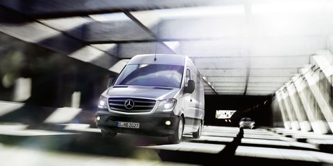 "<p>A 2.1-liter four-cylinder turbodiesel is the base engine for the Mercedes Sprinter. It makes <a href=""http://www.caranddriver.com/reviews/2014-mercedes-benz-sprinter-first-drive-review"">161-hp and 265 lb-ft of torque</a>. Not bad for a little engine.</p>"