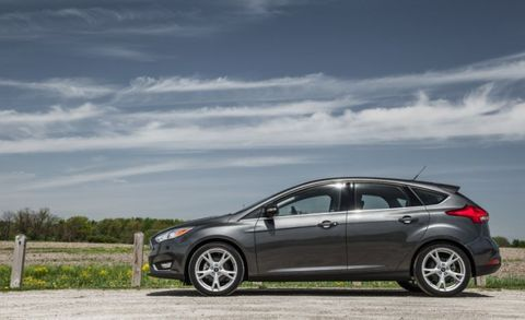 """<p>With its European-developed chassis, the Focus—a <a href=""""http://www.caranddriver.com/features/2012-10best-cars-feature-2012-ford-focus-page-5"""" target=""""_blank"""">former 10Best</a> <a href=""""http://www.caranddriver.com/features/2013-10best-cars-feature-2013-ford-focus-focus-st-page-4"""" target=""""_blank"""">Cars winner</a>—is a practical, playful companion offering a rare blend of agility and accuracy. A 160-hp 2.0-liter four-cylinder is standard but a 123-hp 1.0-liter turbo three-cylinder with auto stop-start is optional for extra efficiency. A six-speed dual-clutch automatic is available but we prefer the five-speed manual. A handsome exterior and functional interior with a load of standard and available features win the Focus extra style points. <a href=""""http://www.caranddriver.com/ford/focus"""">FULL COVERAGE ››</a></p>"""
