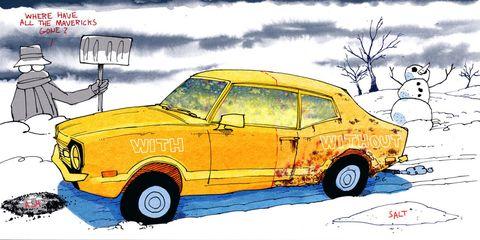 ford maverick coupe illustration