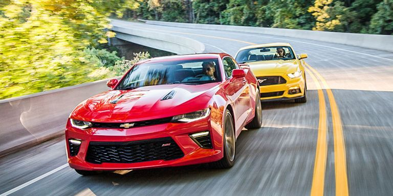 Chevrolet Camaro SS Vs Ford Mustang GT Old War New - Ford vs chevy us map
