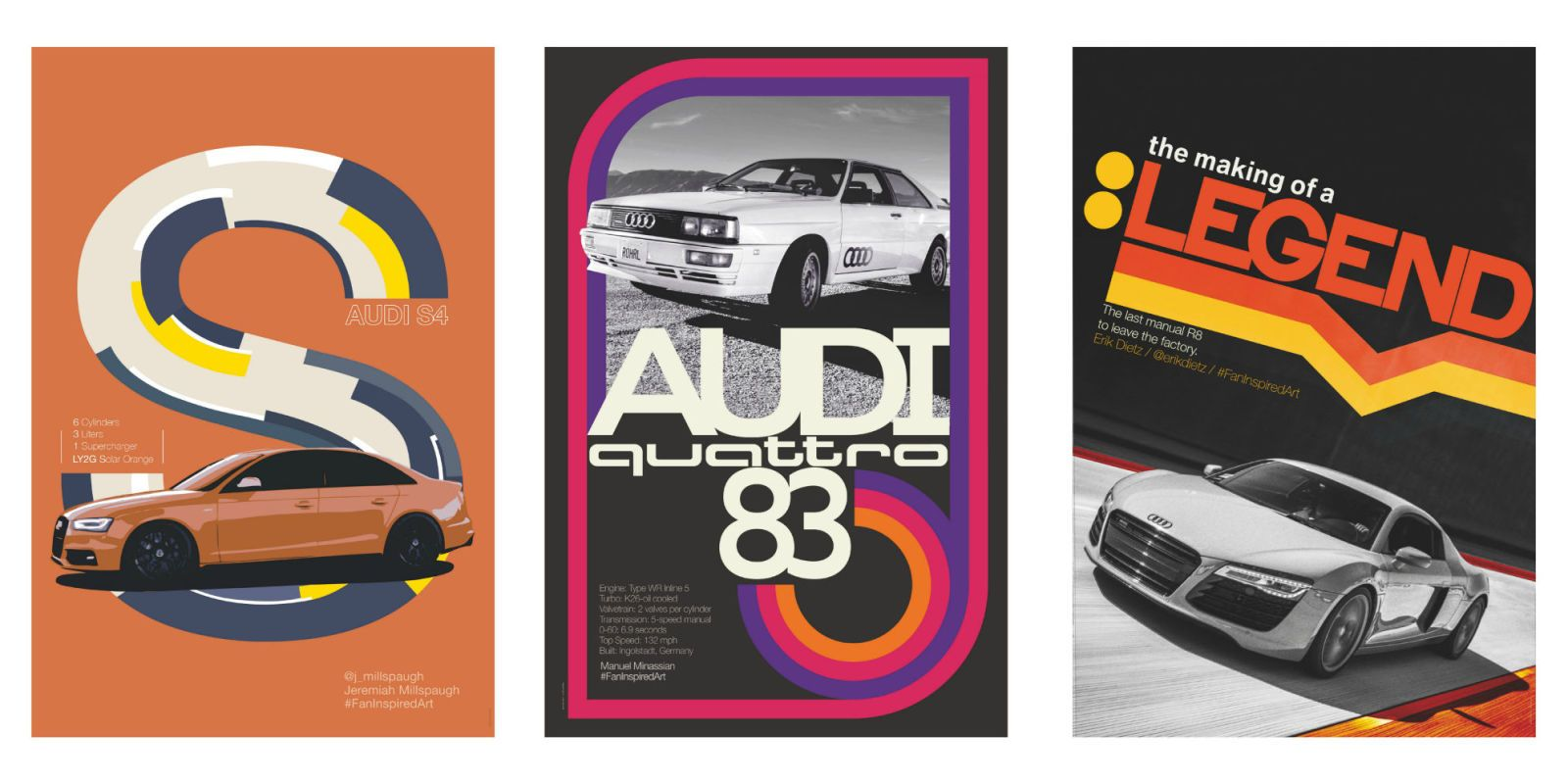 Audi Used Fan Photography to Make Rad Retro Posters