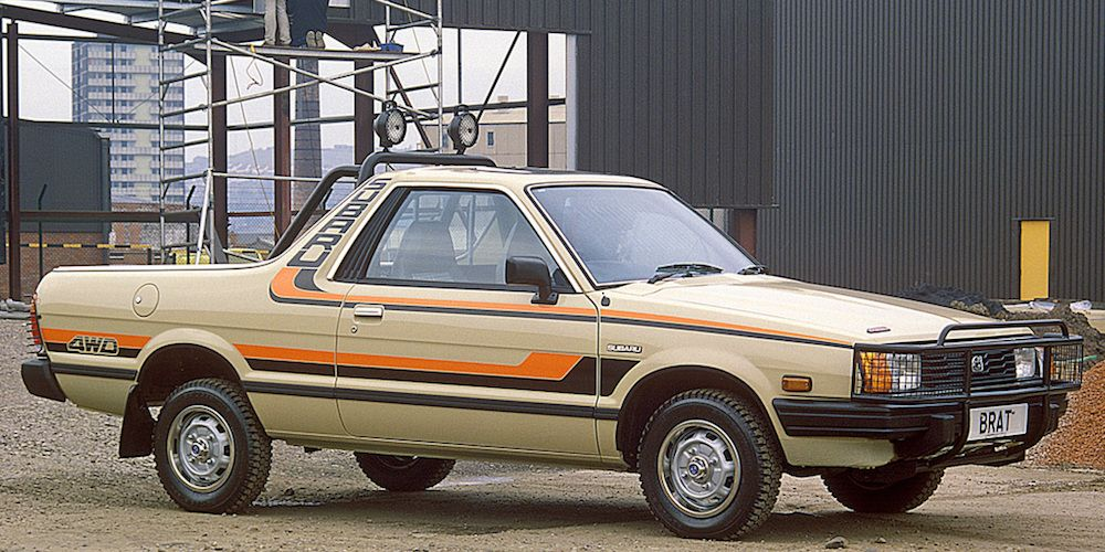 Subaru is somewhat quirky compared with its mainstream rivals now, but it was all out bonkers in the late 1970s. Behold, the BRAT, an El Camino'd Subaru Leone sedan made for the U.S. market.