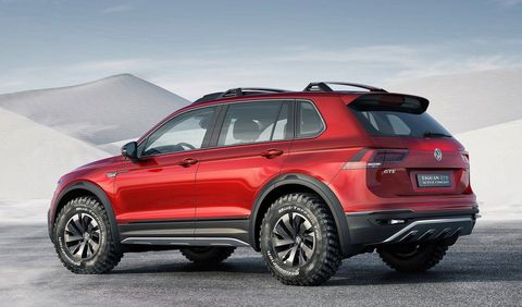 The Volkswagen Tiguan GTE Active Concept is a Hybrid Off ...