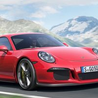 """<p>The main complaint about the brilliant Porsche 911 GT3 is that it doesn't have the option for a manual gearbox. <a href=""""http://www.roadandtrack.com/new-cars/future-cars/news/a26984/a-gt3-powered-manual-only-porsche-911-r-is-coming/"""">Enter the 911 R</a>, a GT3-based 911 with narrower rubber, no wing, the same 475 horsepower flat-six, and one gearbox option: a manual. </p><p>We can't wait to see this.</p>"""