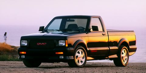 Land vehicle, Vehicle, Car, Pickup truck, Gmc, Truck, Truck bed part, Gmc syclone, Chevrolet, Automotive tire,