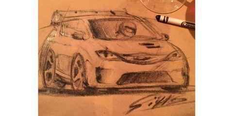 Automotive design, Art, Artwork, Automotive lighting, Illustration, Painting, Vehicle door, Drawing, Paint, Hood,