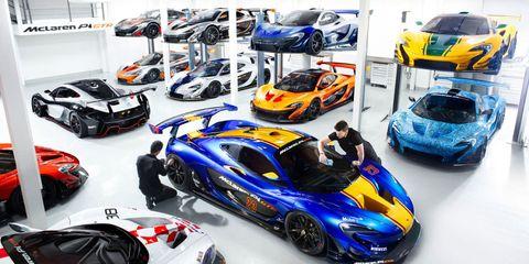 Tour McLaren's Incredible P1 GTR Workshop