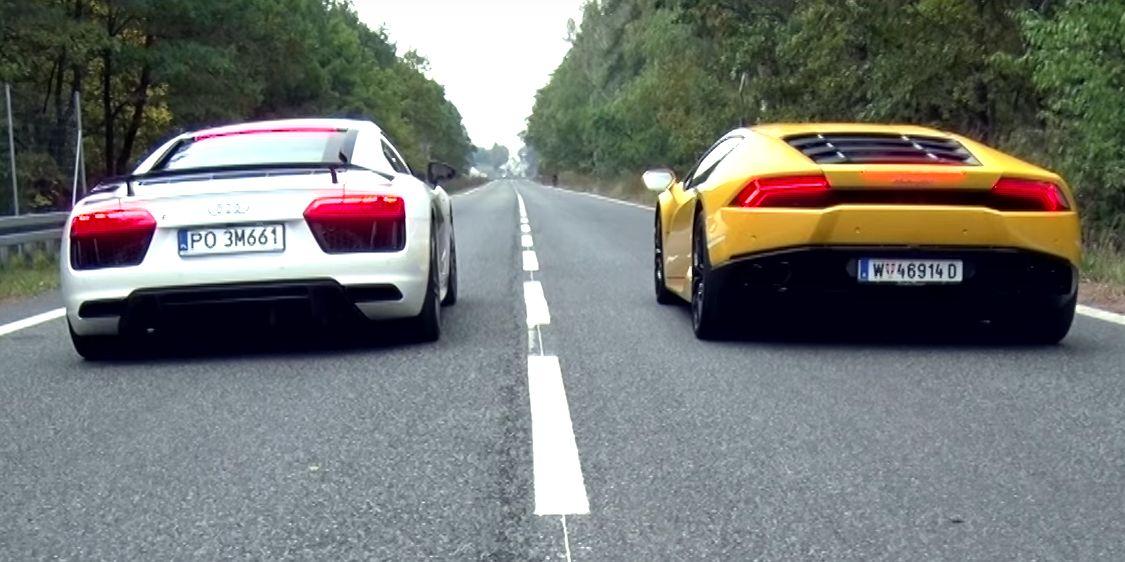Lamborghini huracan vs audi r8 v10 plus