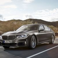 """<p>Of course, if you prefer your 600 horsepower BMW sedans to be tuned by M and have a V12, <a href=""""http://www.roadandtrack.com/car-shows/geneva-auto-show/news/a28162/bmw-m760i-xdrive-the-7-series-finally-gets-an-m-badge/"""">then you want the M760i</a>, the first 7-Series to wear the M badge. </p>"""