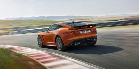 """<p>The <a href=""""http://www.roadandtrack.com/new-cars/future-cars/news/a28194/jaguar-f-type-svr-photos-info/"""">fastest production Jaguar ever</a> has a 575 horsepower V8 and a 200 mph top speed. And it's still unbelievably gorgeous. Winner.</p>"""