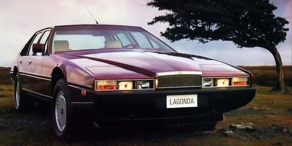 Some peopled hated it. Some people loved it. But you can't deny that the Lagonda's sharply wedge-shaped nose is eye-catching. That, paired with fairly advanced in-car tech made the Lagonda a bit too advanced for its time. It had a digital instrument panel in 1976, which was hilariously bad, by the way. The buttons were touch sensitive and often didn't work. Bright sunlight washed out the display. That's why screens didn't show up in cars again for decades after that, but man, was it stylish.