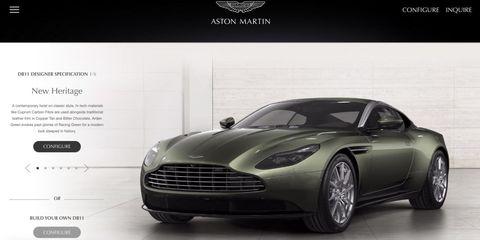 Aston Martin DB11 Configurator