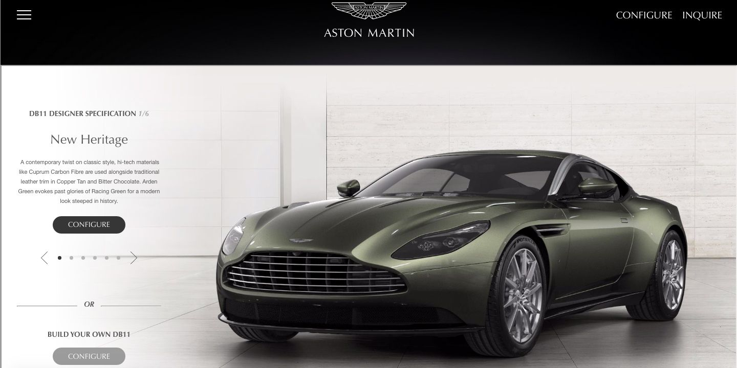 How Would You Order The Aston Martin DB Of Your Dreams - Build your own aston martin