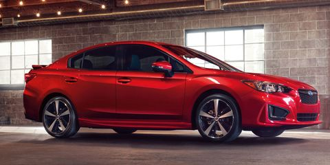 The 2017 Subaru Impreza Is Here And We Have To Say Like New More Sculpted Look Both In Sedan Hatchback Form